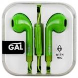 наушники GAL HM-060GR, зеленые
