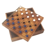 шашки Thai wood Checkers-Colored цветные шашки, от 8 лет