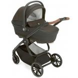 коляска модульный сет Cam Joy 751 (люлька + автокресло + прогулочный блок + сумка), коричневый