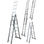 лестница монтажная LWI (3х12) трёхсекционная