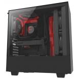 корпус компьютерный NZXT H500 CA-H500B-BR черный/красный