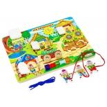 игрушка для малыша Бизиборд Alatoys Три поросенка