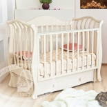 детская кроватка Красная Звезда Юлиана С757, (Птички) Ваниль