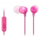 гарнитура для телефона Sony MDR-EX15APPIC(CE7), розовая