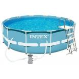 бассейн каркасный Intex каркасный 366х122см фильтр-насос 3785л/ч, лестница, (10250 л)