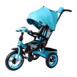 Трехколесный велосипед Moby Kids Leader 360° 12x10 AIR Car 64107, бирюзовый