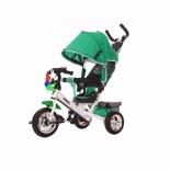 Трехколесный велосипед Moby Kids Comfort 10x8 EVA, зеленый со спинкой