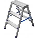 лестница монтажная Сибин 38825-03 двухсторонняя, алюминиевая