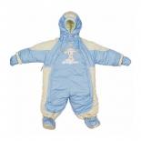 детская одежда Комбинезон-транформер Золотой гусь Кроха мех, голубой