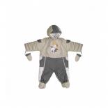детская одежда комбинезон-трансформер Золотой Гусь, мех (рост 74), бежевый