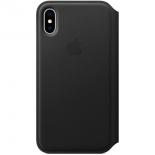 чехол iphone Apple для iPhone X Leather Folio - черный