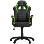 игровое компьютерное кресло HHGears SM115_BG, чёрно-зелёное