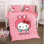 детское постельное белье DO&CO, сатин, пр.100х150 см, нав. 35х45*2, SMILE