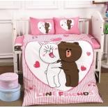 детское постельное белье DO&CO, сатин, пр.100х150 см, нав. 35х45*2, LOVE