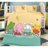 детское постельное белье DO&CO, сатин, пр.100х150 см, нав. 35х45*2, LITTLE FREINDS