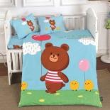 детское постельное белье DO&CO, сатин, пр.100х150 см, нав. 35х45*2,  NICE