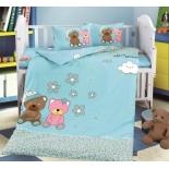детское постельное белье DO&CO, сатин, пр.100х150 см, нав. 35х45*2, HAPPY