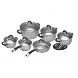 набор посуды для готовки TalleR TR-1047, 13 предметов (сталь)