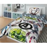 детское постельное белье Marvel Супергерои-3 Avengers  1,5-сп., поплин, навол. 50х70*1
