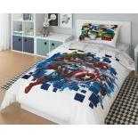 детское постельное белье Marvel Avengers Мстители  1,5-сп., поплин, навол. 50х70*1