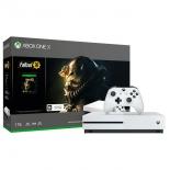 игровая приставка Microsoft Xbox One X 1Тб FMP-00058 с игрой Fallout 76, белая
