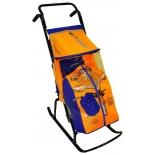 санки-коляска R-Toys Снегурочка 2-Р Медвежонок blue-orange