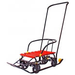 санки-коляска Snow Galaxy Black Auto, красные