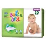 детские пеленки Helen Harper Soft&Dry впитывающие 60х90 (30 шт.)