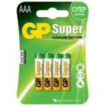батарейка Super Alkaline 24А ААA алкалиновые, 4 шт. на блистере 24A-2CR4