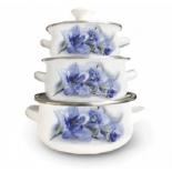 набор посуды для готовки Kelli KL-4461 (6 предметов) эмалированное покрытие