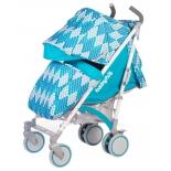 коляска Babyhit Rainbow Rhombus Blue (трость)