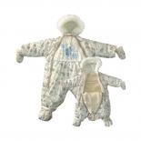 детская одежда комбинезон-трансформер Золотой гусь Снежок, рост 74, светло-бежевый