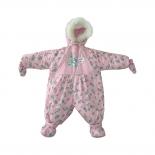 детская одежда комбинезон-трансформер Золотой гусь Снежок, рост 74, розовый