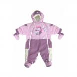 детская одежда комбинезон-трансформер Золотой Гусь, мех (рост 74), розовый