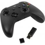 геймпад Microsoft Xbox One 4N7-00003 (+ кабель для Windows 10 и беспроводной адаптер), черный
