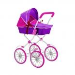 транспорт для кукол RT коляска, фиолетовая-фуксия