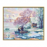 картина по номерам Горное озеро зимой 40х50 см (9130700)
