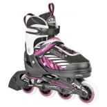 роликовые коньки Hudora Mia pink 37-40, розовые
