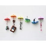держатель для полотенца Крючки-держатели в виде зонтиков UMBRELLA DROP, 3 шт