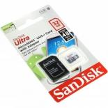 карта памяти SanDisk Ultra microSDHC Class 10 UHS-I 48MB/s 32GB + ПО и SD-адаптер