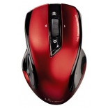 мышка Hama Wireless Laser Mouse Mirano, красно-черная USB