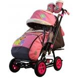 санки-коляска Galaxy City-2 Мишка со звездой на розовом