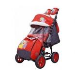 санки-коляска Galaxy City-2 Мишка со звездой на красном
