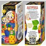товар для детского творчества Матрешка под раскраску Десятое королевство 11 см (01964ДК)