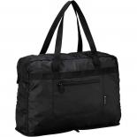 сумка дорожная Victorinox cкладная, чёрная, полиэстер 150D, 9x14x42 см, 17 л