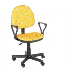 компьютерное кресло Мебельторг OLSS Регал далматинцы T-27 ЖЛ, желтое