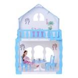 игрушка Домик Krasatoys Mарина, бело-голубой с мебелью (266)