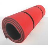коврик туристический Изолон Camping 10 (10х1800х600мм) 2 утяжки, серо-красный