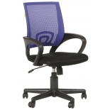 кресло офисное Chairman 696 black/blue (7006516)
