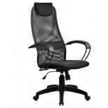 компьютерное кресло Метта  BР-8 PL № 20, черная сетка , металлические подлокотники